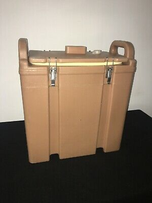 Cambro Tan Insulated Soup/Beverage Carrier 350LCD 3.3/8 Gallon Capacity. #1A