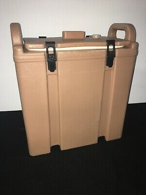 Cambro Tan Insulated Soup/Beverage Carrier 350LCD 3.3/8 Gallon Capacity. #1C