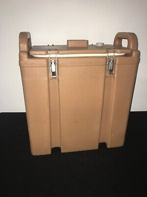 Cambro Tan Insulated Soup/Beverage Carrier 350LCD 3.3/8 Gallon Capacity. #1E