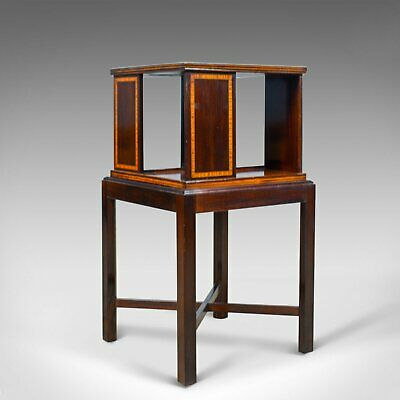 Antique Four Sided Bookcase Stand, Edwardian, Walnut, Book Table, Circa 1910