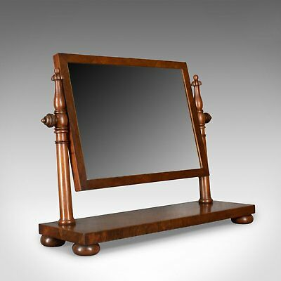 Large Antique Dressing Table Mirror, Flame Mahogany, William IV, Toilet, c.1835