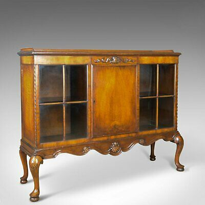 Antique Display Cabinet, Edwardian, Walnut, Waring and Gillows Ltd, Circa 1910
