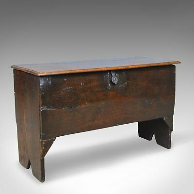 Antique Coffer, 6 Plank Sword Chest, English, Oak, 17th Century, Circa 1660