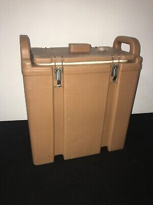 Cambro Tan Insulated Soup/Beverage Carrier 350LCD 3.3/8 Gallon Capacity. #1G