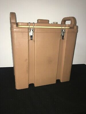 Cambro Tan Insulated Soup/Beverage Carrier 350LCD 3.3/8 Gallon Capacity. #1H
