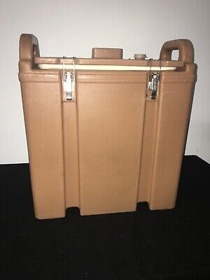 Cambro Tan Insulated Soup/Beverage Carrier 350LCD 3.3/8 Gallon Capacity. #1i