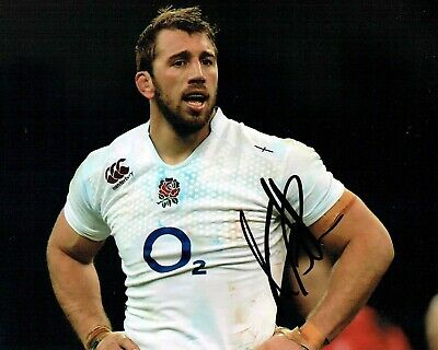 Chris ROBSHAW Signed Autograph 10x8 England RUGBY Photo 1 AFTAL COA