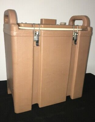 Cambro Tan Insulated Soup/Beverage Carrier 350LCD 3.3/8 Gallon Capacity. #1J