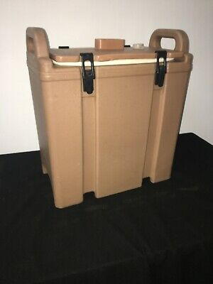 Cambro Tan Insulated Soup/Beverage Carrier 350LCD 3.3/8 Gallon Capacity. #1K