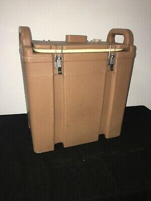 Cambro Tan Insulated Soup/Beverage Carrier 350LCD 3.3/8 Gallon Capacity. #1L