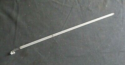 "Kontes Button Type 19 1/2"" Ground Glass Stirring Shaft 495x10 Damage 786500-0262"