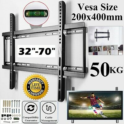 TV Wall Mount Bracket Tilt Swivel 3D LED LCD Plasma For 17 22 30 40 50 55 Inches