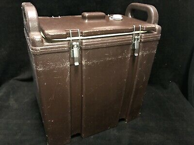 Cambro Brown Insulated Soup/Beverage Carrier 350LCD 3.3/8 Gallon Capacity. #1Q