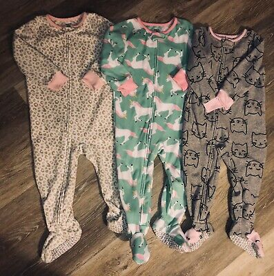 3f3e53fab LOT OF 3 Carters Baby Girl Sleepers 0-3 Months - $12.99 | PicClick