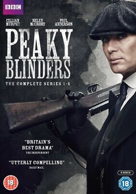 Peaky Blinders: The Complete Series 1-4 ((DVD 8 DISC BOX SET, 2017) *NEW*