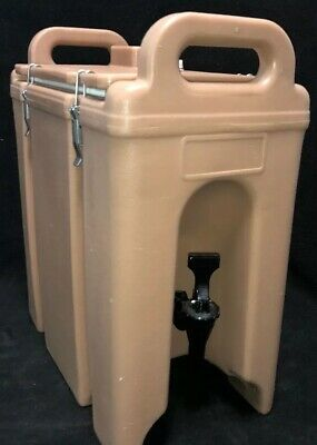 Cambro Tan Insulated Beverage Carrier 250LCD 2.5 Gallon Capacity. Our # 1X