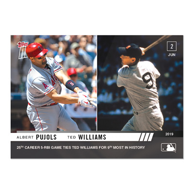 2019 Topps NOW 319 Albert Pujols Los Angeles Angels Ted Williams [6.2.19]