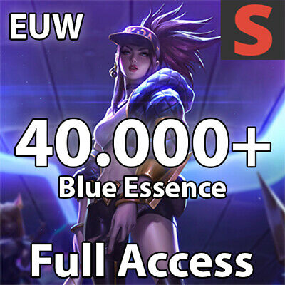 League of Legends LoL Smurf Account EUW | Level 30 | 40000+ Blue Essence