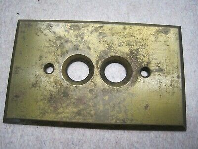 Antique BRASS Push Button Light Switch Plate COVER OLD # 1
