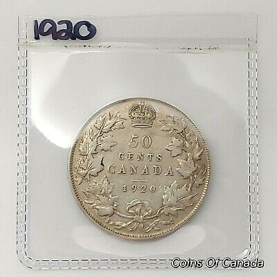 1920 Canada Silver 50 Cents Coin - Sealed In Acid-Free Package #coinsofcanada