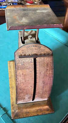 Antique COLUMBIAN MAIL SCALE-1903-Pelouze Mfg Co-Chicago-Excellent Used Cond.