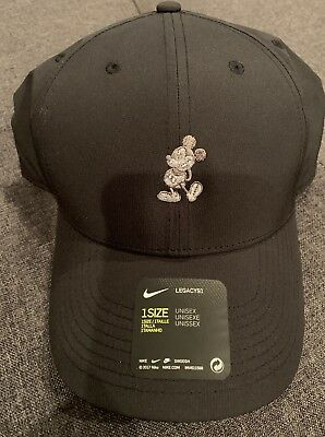 Disney Parks Mickey Mouse Icon Character Nike Golf  Cap  Legacy 91 BLK DRI-FIT