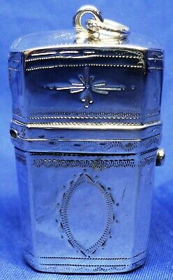 George Iii Solid Silver Etui By Thomas Willmore ~ Hallmarked London 1796