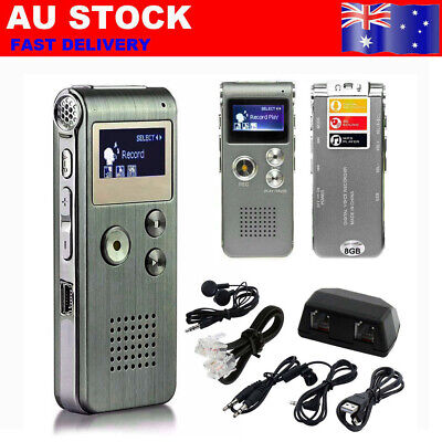 Paranormal Ghost Hunting Equipment Digital Voice Activated Recorder 8GB AU Y8A0H