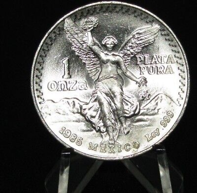1985 Libertad 1 Oz Silver  In Air-Tite Case,Free Shipping