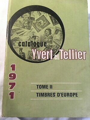 YVERT-TELLIER Catalogue 1971 Tome II Timbres d'Europe, Europe Stamp catalog