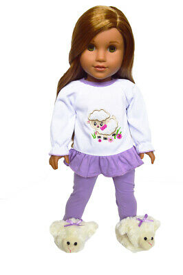 Spring Lamb Pajamas for American Girl Dolls 18 Inch Doll Clothes