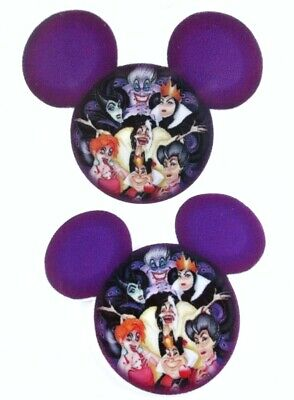 8PC Mickey Mouse Ears Flatback Embellishment Hair Bows Cupcake Toppers Crafts