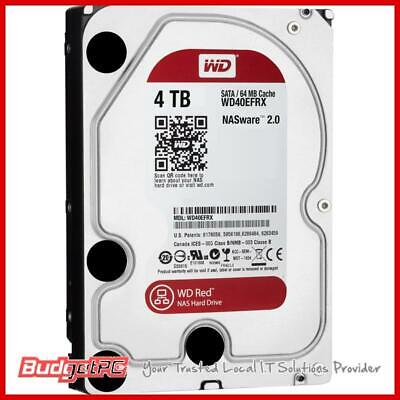 "WD WD40EFRX 4TB Red 3.5"" IntelliPower SATA3 NAS Hard Drive"