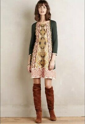 da01b0e1d37b NWT ANTHROPOLOGIE RUFFLE-SLEEVE Mock Neck Tunic by Knitted & Knotted ...