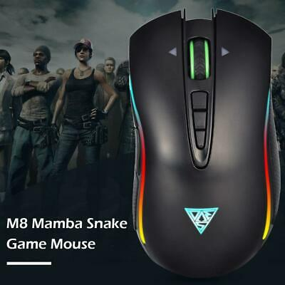 V1 Gaming Mouse USB Wired 3200DPI 16.8 Million Color RGB Backlight Mouse #8L