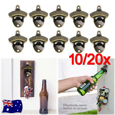 NEW 10PCS Cola Coke Beer Bottle Opener With Screws Metal Wall Mounted