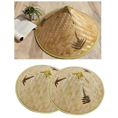ecaad3ee384e5a Chinese Oriental Durable Coolie Straw-Bamboo Farmer Rice Hat Fishing Hat  Sun Hat