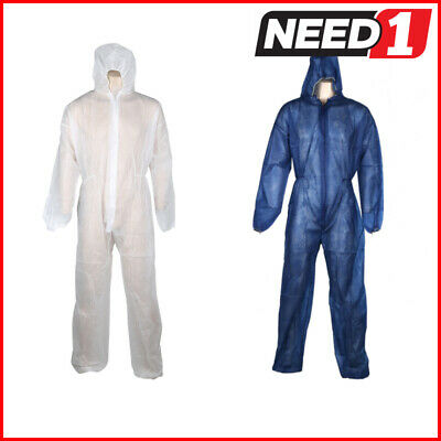 25x Disposable Protective Coveralls Dust Protection Construction