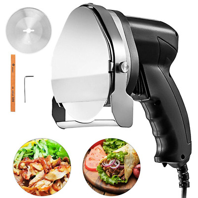 Electric Kebab Cutter Slicer Meat Knife Doner Shawarma Cutting Machine 2 Blades