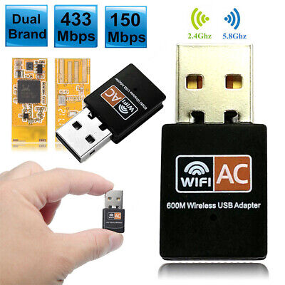 2.4G / 5G USB Dual-band Wireless Adapter 600Mbps Network Signal Wifi Receiver