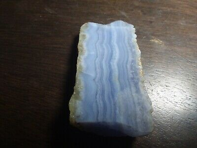 Blue lace  agate lapidary cutting rock rough slabs 70 grams #10