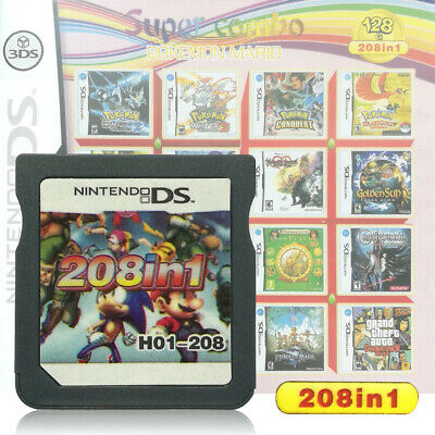 208 in 1 Games Game Multi Cartridge For Nintendo DS NDS NDSL NDSi 3DS 2DS XL