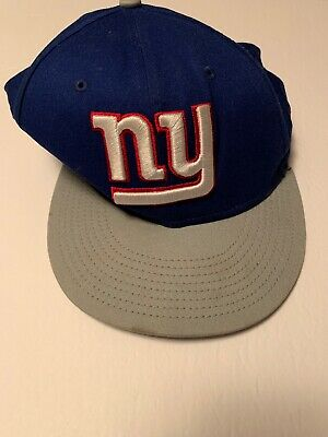a3ec9d441 New York Giants Royal Blue Gray White Red NFL New Era 9Fifty Snapback Hat  Cap NY