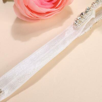 Children Baby Infant Princess Flower Girl Rhinestone Hair Band Headband U8HE 11