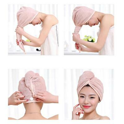 Microfiber Towels Quick Dry Hair Magic Drying Turban Wrap Towel Bathing Cap 7N