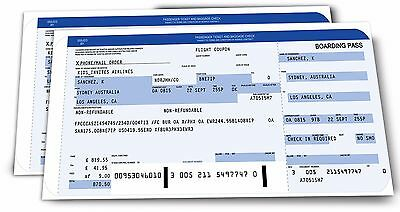 Personalised Plane Ticket Boarding Pass - Surprise Holiday Gift Ticket