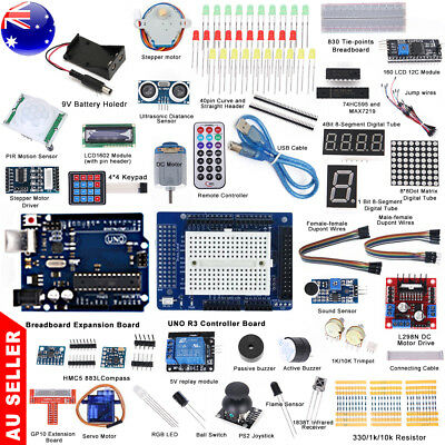 Professional UNO R3 Starter Kit for Arduino LCD Compass Processing Breadboard