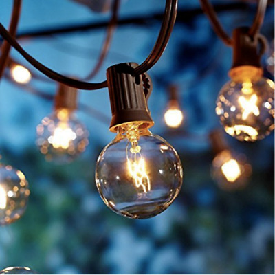 Outdoor Garden String Lights 25ft G40 OxyLED Garden Patio Outside String Light