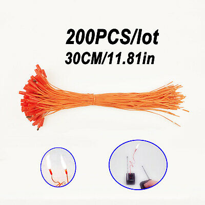 200 pcs 11.81in match Wire for Fireworks Firing System electric wire