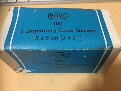 "Vintage Rowi 2x2"" Transparency Cover Glasses (40) & Masks (9) Made in Germany."